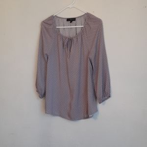 Fred David long sleeve blouse color purple with po